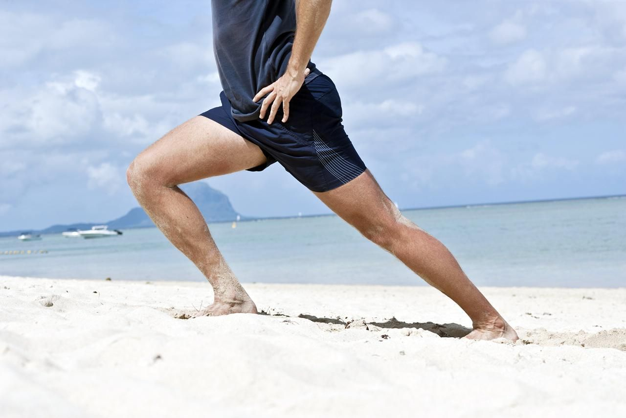 knee-stretching